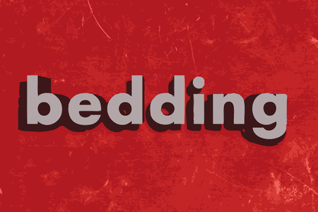 bedding: bedding vector word on red concrete wall