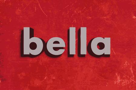 赤いコンクリートの壁にベラ ベクトル単語