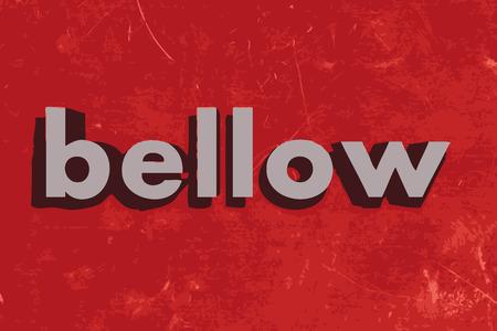 bellow: abajo palabra vector en rojo muro de hormig�n