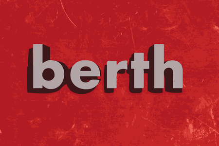 berth: berth vector word on red concrete wall Illustration