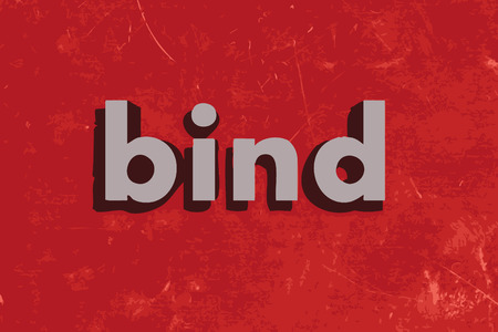 bind: bind vector word on red concrete wall