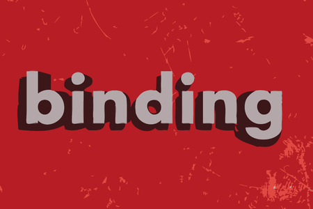 binding: binding vector word on red concrete wall Illustration