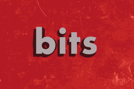 bits: bits vector word on red concrete wall