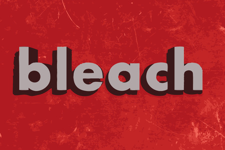 bleach: bleach vector word on red concrete wall