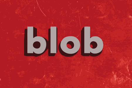 blob: blob vector word on red concrete wall