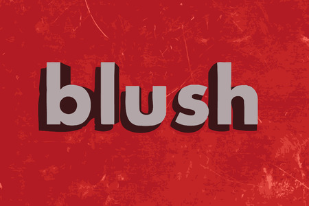 blush: blush vector word on red concrete wall