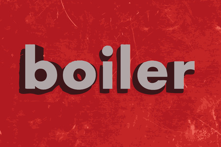boiler: boiler vector word on red concrete wall