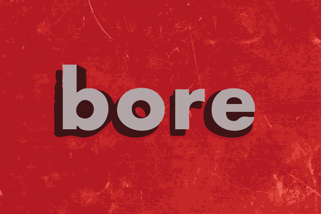 bore: bore vector word on red concrete wall Illustration
