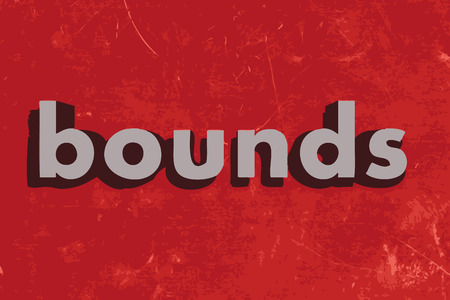 bounds: bounds vector word on red concrete wall