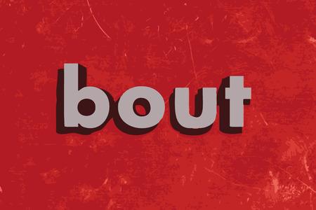 bout: palabra combate del vector en rojo muro de hormig�n
