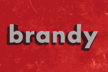 brandy: brandy vector word on red concrete wall