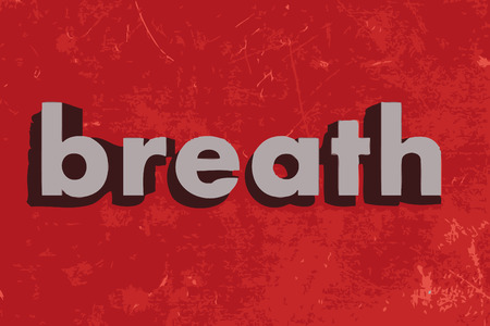 breath: breath vector word on red concrete wall