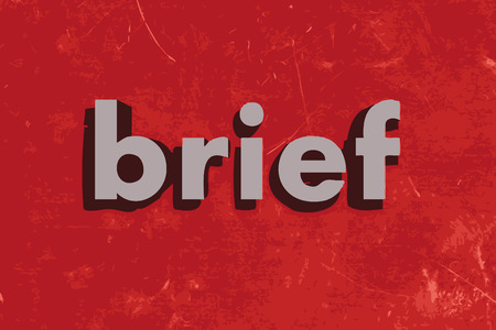 brief: brief vector word on red concrete wall