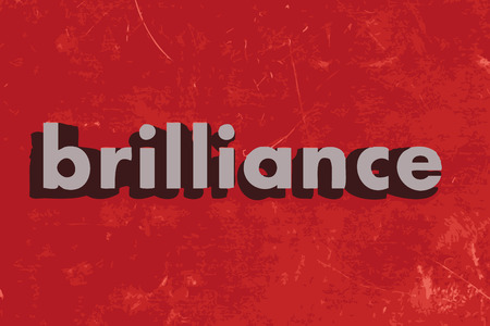 brilliance: brilliance vector word on red concrete wall Illustration