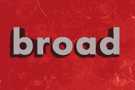 broad: broad vector word on red concrete wall