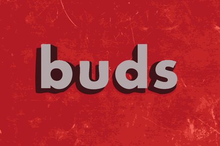 buds: buds vector word on red concrete wall