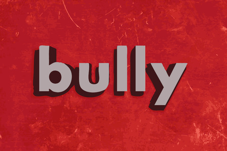 bully: palabra mat�n del vector en rojo muro de hormig�n Vectores