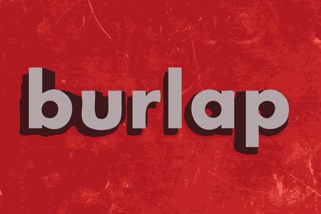 çuval bezi: kırmızı beton duvara çuval vektör kelime