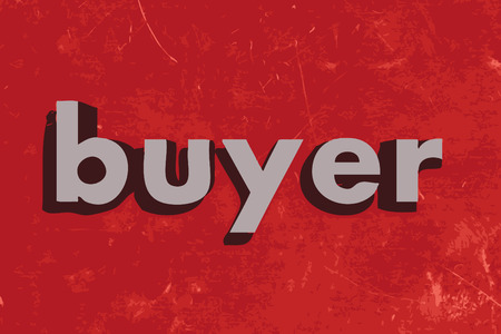 buyer: buyer vector word on red concrete wall