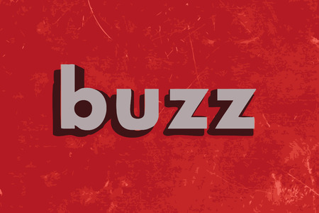 buzz: buzz vector word on red concrete wall