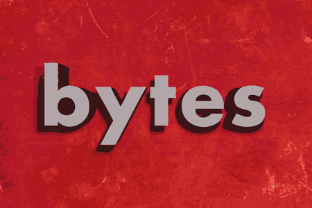 bytes: bytes vector word on red concrete wall