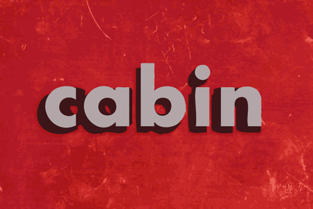 cabin: cabin vector word on red concrete wall