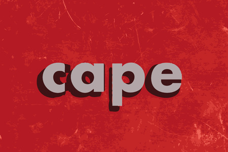 cape: cape vector word on red concrete wall