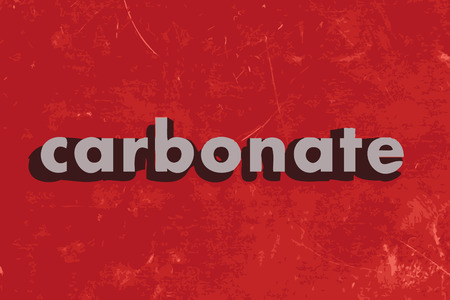 carbonate: carbonate vector word on red concrete wall