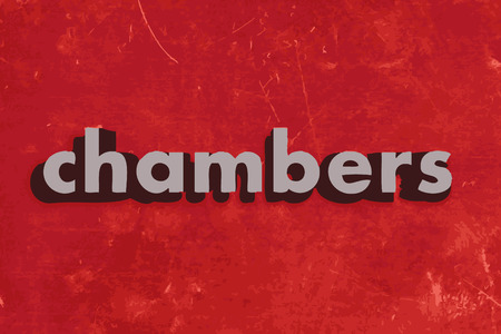 kamers: chambers vector word on red concrete wall Stock Illustratie