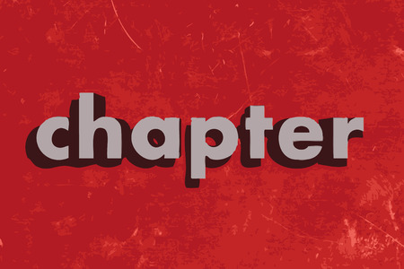 chapter: chapter vector word on red concrete wall Illustration