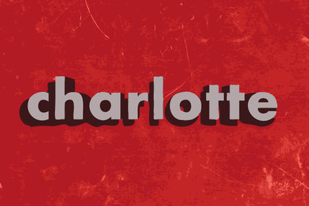 charlotte: charlotte vector word on red concrete wall