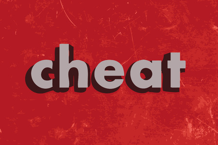 cheat: cheat vector word on red concrete wall Illustration