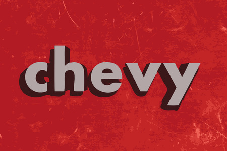 chevy: chevy vector word on red concrete wall