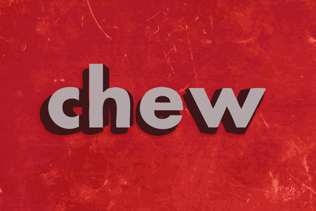 chew: chew vector word on red concrete wall