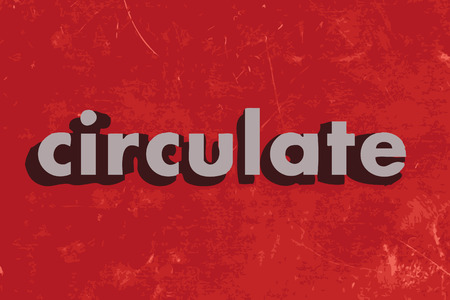 circulate: circulate vector word on red concrete wall