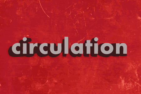 circulation: circulation vector word on red concrete wall