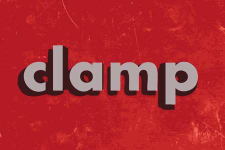 clamp: clamp vector word on red concrete wall