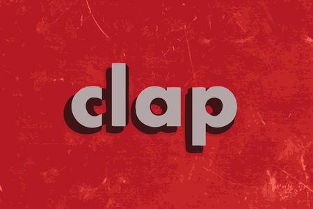 clap: clap vector word on red concrete wall Illustration