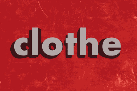 clothe: clothe vector word on red concrete wall