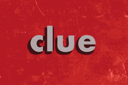 clue: clue vector word on red concrete wall Illustration