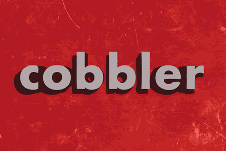 cobbler: cobbler vector word on red concrete wall