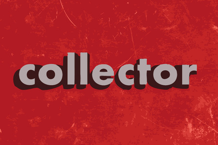 collector: collector vector word on red concrete wall