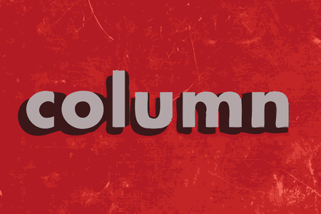 column: column vector word on red concrete wall Illustration