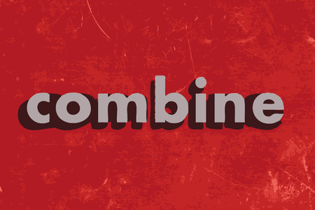 combine: combine vector word on red concrete wall