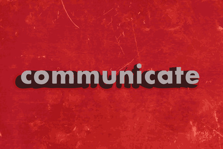 communicate: communicate vector word on red concrete wall Illustration