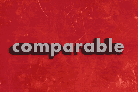 comparable: comparable vector word on red concrete wall Illustration