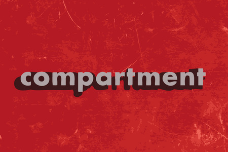 compartment: compartment vector word on red concrete wall Illustration