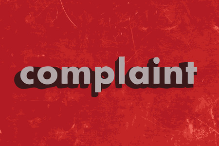 complaint: complaint vector word on red concrete wall Illustration