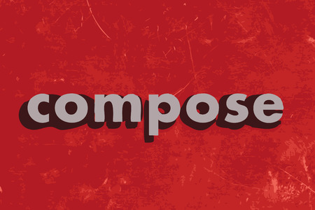 compose: compose vector word on red concrete wall Illustration