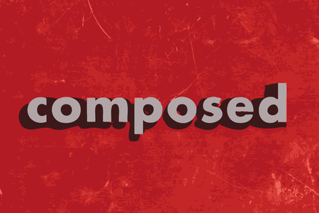 composed: composed vector word on red concrete wall